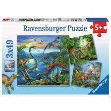 Ravensburger - Puzzle 3x49el - Dinozaury - 093175