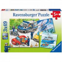 Ravensburger - Puzzle 3x49el - Policja - 092215