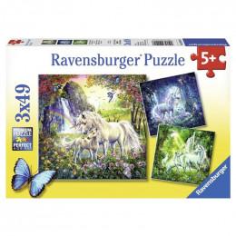 Ravensburger - Puzzle 3x49el - Jednorożce  - 092918