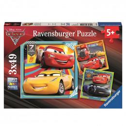 Ravensburger - Puzzle 3x49el - Cars 3 - 080151