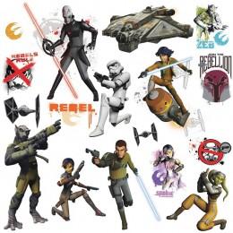 RoomMates Naklejki na Ścianę Wielokrotnego Użytku 2622 - Star Wars Rebels