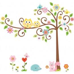 RoomMates Naklejki na Ścianę Wielokrotnego Użytku 1439 - Kwitnące Drzewo