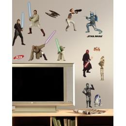 RoomMates Naklejki na Ścianę Wielokrotnego Użytku 1876 - Star Wars Joda