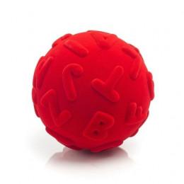 Rubbabu – Czerwona piłka sensoryczna z literami - 203131