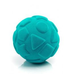 Rubbabu – Niebieska piłka sensoryczna z kształtami - 203136