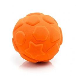 Rubbabu – Pomarańczowa piłka sensoryczna z kształtami - 203135