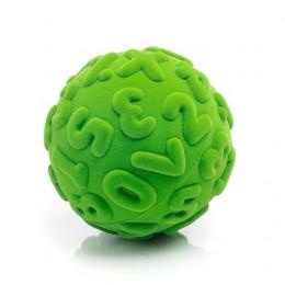 Rubbabu – Zielona piłka sensoryczna z literami - 203134