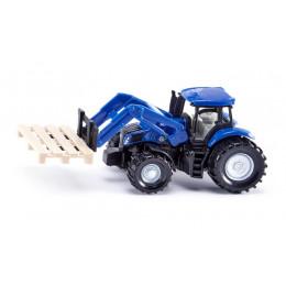 SIKU – Traktor z widłami paletowymi i paletą – 1487
