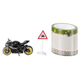 SIKU - Zestaw motocykl + taśma - 1601
