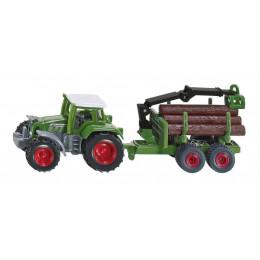 SIKU - Traktor z przyczepą z drewnem - 1645
