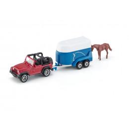 SIKU - Jeep z przyczepą + koń - 1651