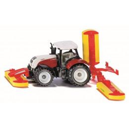 SIKU - Traktor z kosiarką - 1672