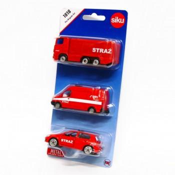 SIKU – Zestaw pojazdów straży pożarnej – 1818