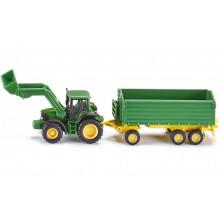 SIKU Farmer 1843 Traktor John Deere z przyczepą 1:87