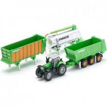 SIKU - Traktor z akcesoriami 1:87 - 1848