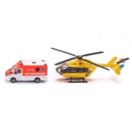 SIKU – Pojazdy ratunkowe helikopter i karetka – 1850