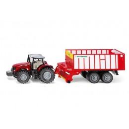 SIKU Farmer – Traktor Massey Ferguson z przyczepą Pottinger Jumbo – 1987