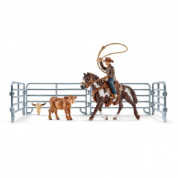 Schleich - Farm World – Kowboj łapiący na lasso - 41418