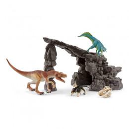 Schleich – Dinozaury - Zestaw dinozaurów w jaskini - 41461