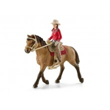 Schleich - Kowbojka na koniu - Figurki 42112