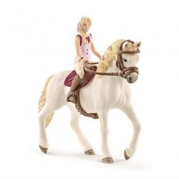 Schleich - Koń z figurką jeźdźca - Sofia i klacz andaluzyjska 42412