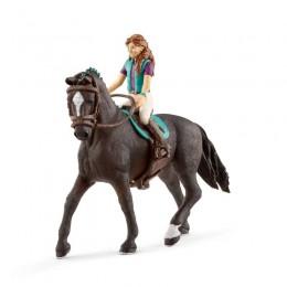 Schleich - Koń z figurką jeźdźca - Lisa i wałach 42413