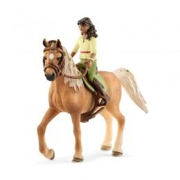 Schleich - Koń z figurką jeźdźca - Sarah i klacz arabska 42414