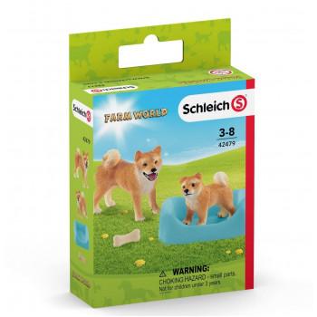 Schleich - Figurki Pieski Shiba Inu - 42479