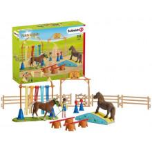 Schleich - Farm World - Trening zręcznościowy dla kucyków – 42481