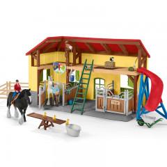 Schleich - Farm World - Stajnia dla koni z akcesoriami 42485