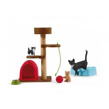 Schleich - Farm World - Czas na zabawę uroczych kotków 42501