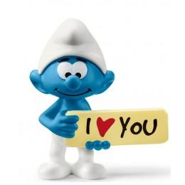 Schleich Smerfy - Figurka Smerf z tabliczką I love You - 20823