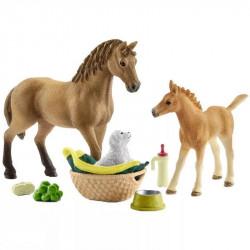 Schleich - Zestaw pielęgnacyjny Quarter Horse - 42432