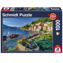 Schmidt - Puzzle 1000 elementów - Nad brzegiem jeziora Como 58303