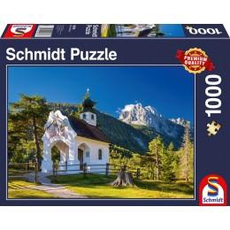 Schmidt - Puzzle 1000 elementów - Kaplica w Alpach 58318