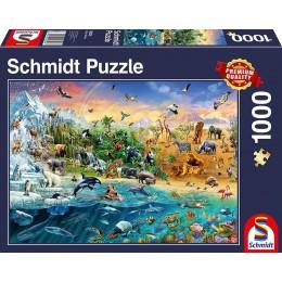 Schmidt - Puzzle 1000 elementów - Królestwo zwierząt 58324
