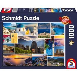Schmidt - Puzzle 1000 elementów - A może wakacje w Grecji? 58338