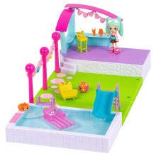 Shopkins Happy Places - Domek z ogrodem i basenem - Peppa-Mint HAP00000