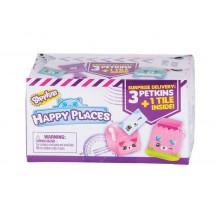 Shopkins HAP02000 Happy Places - Zestaw trzech figurek Petkinsów