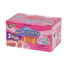 Shopkins HAP09000 Happy Places - Zestaw trzech figurek Petkinsów - mebelki i akcesoria