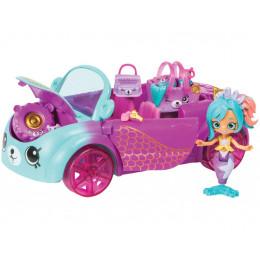 Shopkins Happy Places - Koralowy samochód syreny Coralee - 9 Petkinsów HAP32000