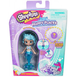 Shopkins Happy Places - Syrenka Bub-Lea - Zestaw z Petkinsem HPH11000