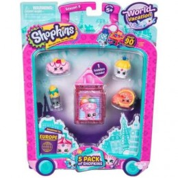 Shopkins Seria 8 HPKA97000 World Vacation - Zestaw pięciu figurek EUROPA