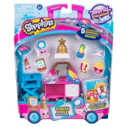 Shopkins Seria 8 World Vacation - Zestaw Gwiazdy Hollywood - HPKB0000