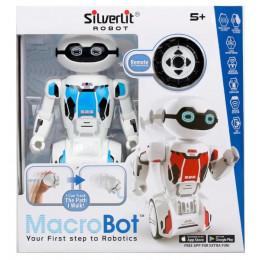 Silverlit - Interaktywny robot MacroBot z pilotem - niebieski 88045