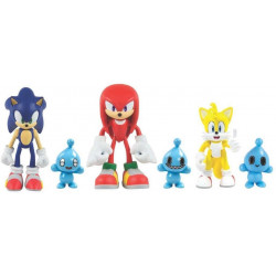 Tomy - Sonic The Hedgehog - Sonic, Knuckles, Tails i Chao - Figurki T22050