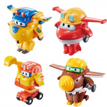Super Wings - Transformujące figurki - Dżetek, Todd, Śrubek i Scoop 720040E