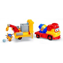 Super Wings - Betoniarka Wywrotka Centrum operacyjne 3w1 - Build-it Buddies Śrubek 730814