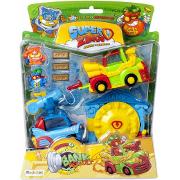 Super Zings - Napad na bank - Zestaw z pojazdami i figurkami – 01142