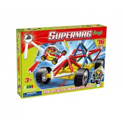SUPERMAG - Klocki magnetyczne - Maxi Wheels 76el. - 0107